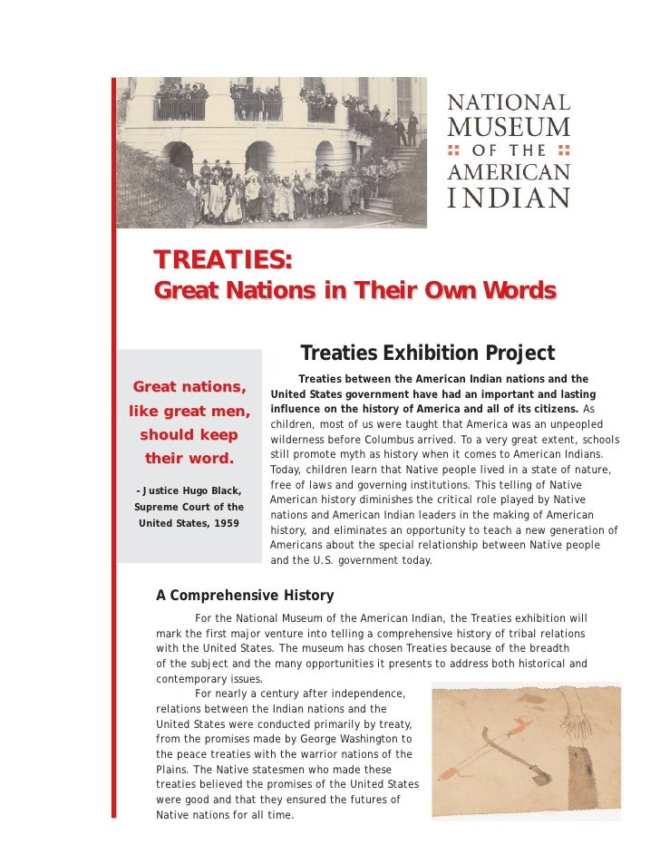 TREATIES:    Great Nations in Their Own Words                                  Treaties Exhibition Project                ...