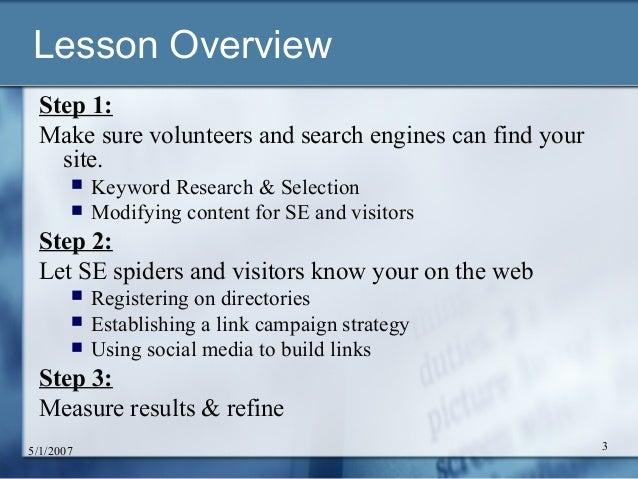 Driving Volunteers to your Website: Online Marketing 101 Slide 3