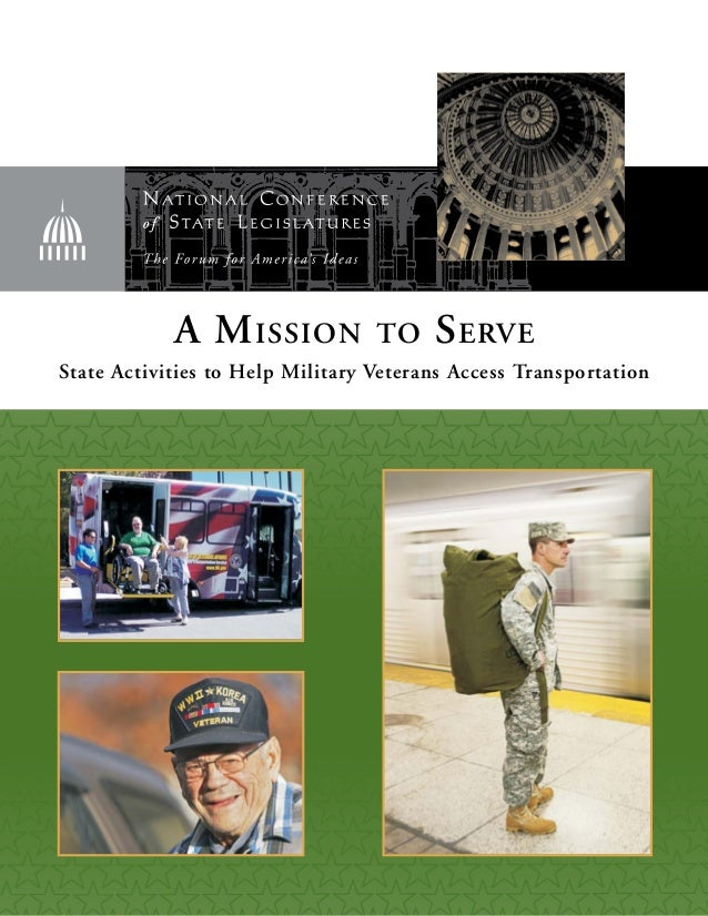 A Mission to Serve State Activities to Help Military Veterans Access Transportation