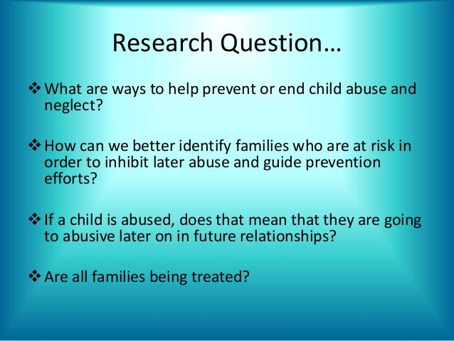 Dissertation questions child abuse