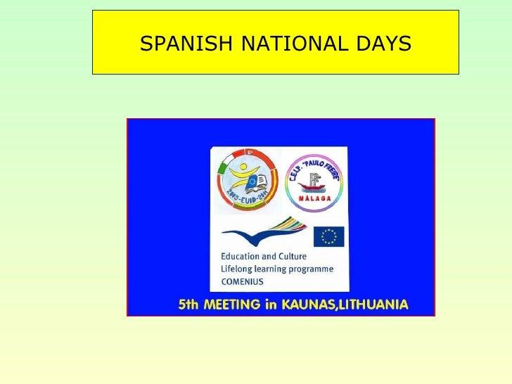 SPANISH NATIONAL DAYS