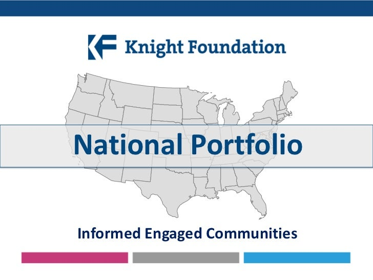 National PortfolioInformed Engaged Communities