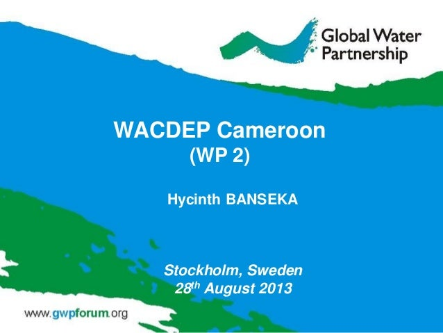 Hycinth BANSEKA Stockholm, Sweden 28th August 2013 WACDEP Cameroon (WP 2)