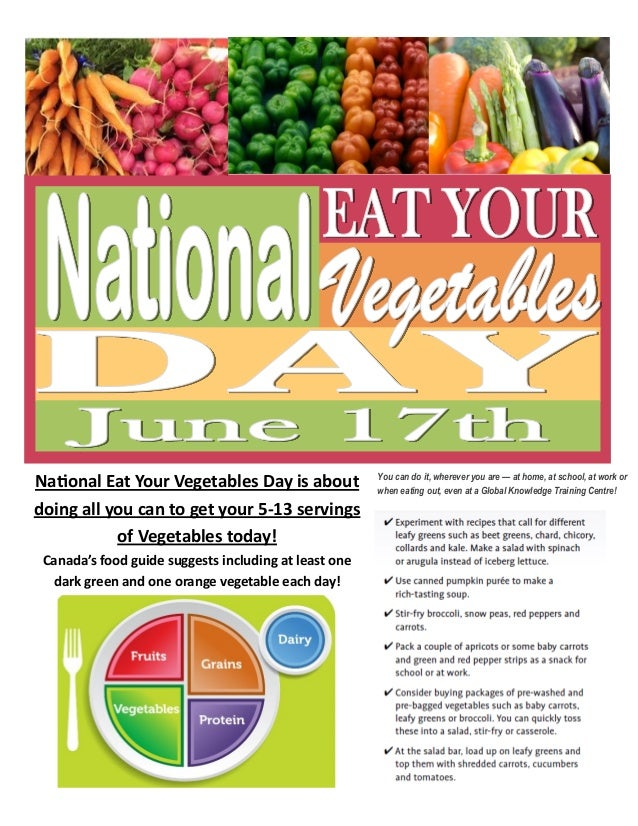 National Eat Your Vegetables Day Is About Doing All You Can To Get 5