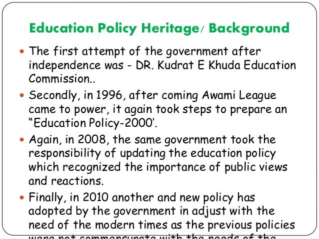education policy in bangladesh based on Important to note that the trend of enacting ie policy and legislation in bangladesh is mainly based  inclusive education in bangladesh: policy and practice .