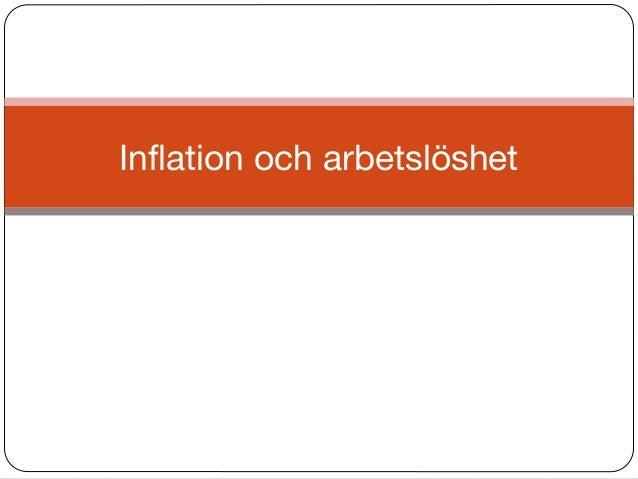 Inflation och arbetslöshet