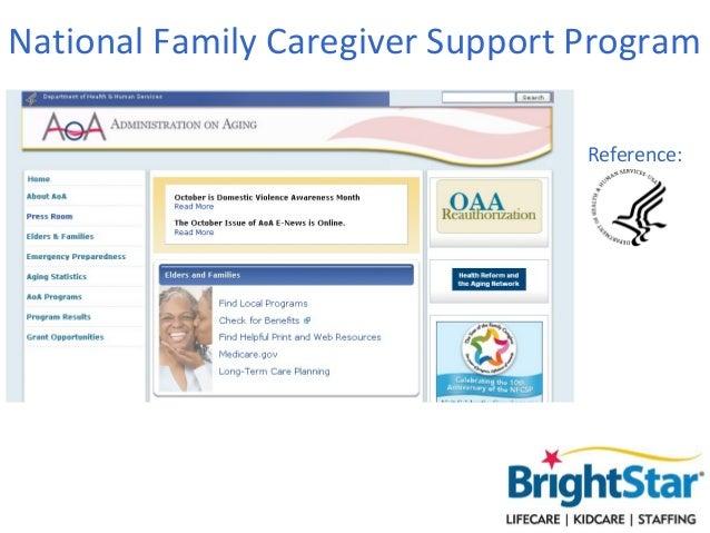 National Family Caregiver Support Program                                  Reference: