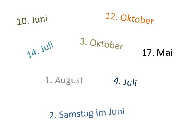 1. August 17. Mai