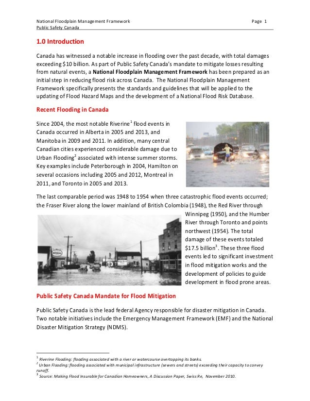 guidelines and standards for flood risk analysis and mapping