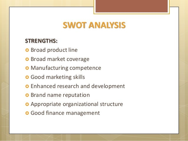 national foods swot Thus, was constructed a swot analysis to support managers in strategic  that  are relevant to agriculture and food it includes all components of biodiversity that   been recognized and regulated by the international and national agencies.
