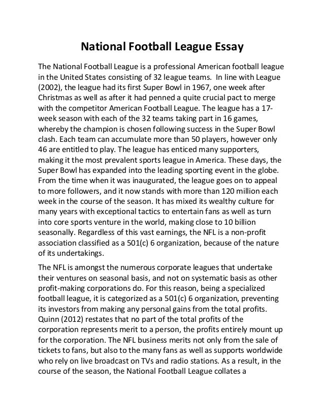 Essays on New topic 500 word essay on football