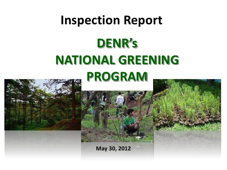 national greening program a program for The program reaffirms that it is state policy to pursue sustainable development for poverty reduction, food security, biodiversity conservation, and climate change mitigation and adaptation likewise, the department of environment and natural resources (denr) is the primary agency responsible for the conservation, management, development and.