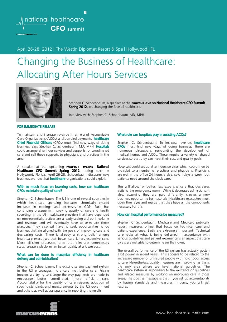 April 26-28, 2012 | The Westin Diplomat Resort & Spa | Hollywood | FLChanging the Business of Healthcare:Allocating After ...