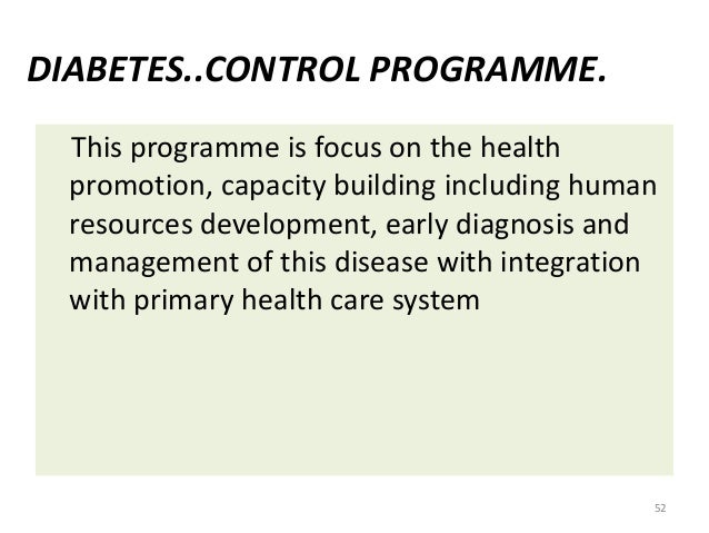 write about national health programs for non communicable diseases