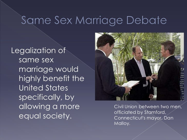 the debate of same sex marriage