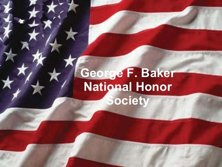 George F. Baker National Honor Society