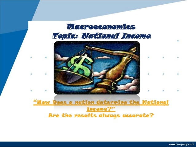 """Macroeconomics     Topic: National Income""""How Does a nation determine the National                Income?""""    Are the resu..."""