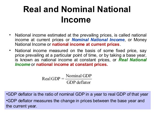 national income ignores