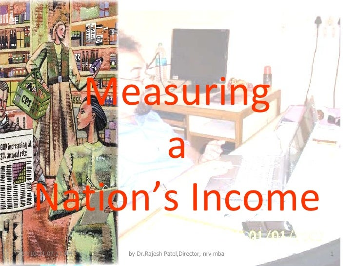 Measuring  a  Nation's Income 10/10/11   07:22 AM by Dr.Rajesh Patel,Director, nrv mba