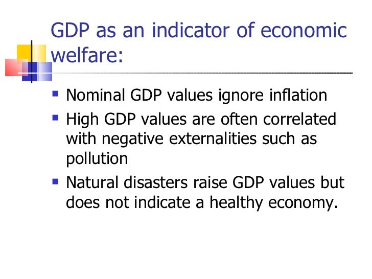 national income and economic welfare Gap between gdp and hdi: are the rich country experiences different from the poor surajit deb (aryabhatta college, university of delhi, india.