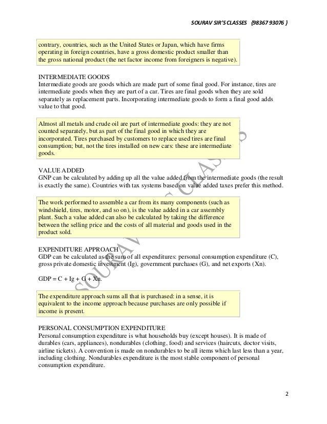 National income accounting NOTES FOR ALL UNIVERSITIES MAINLY FOR ECON…