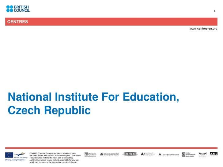 1National Institute For Education,Czech Republic
