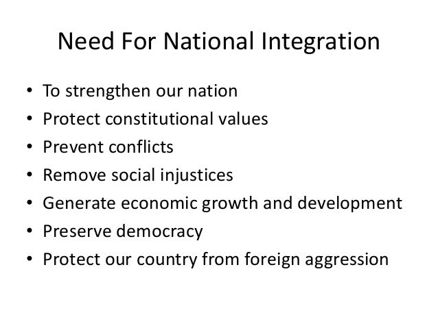 obstacles in national integration of india Here are disadvantages and ill-effects of cast wise reservation on india  economically and  action programmes are creating an obstacle for national  integration.
