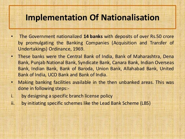 banks in india nationalisation of How many national banks in indiawhy nationalisation done what are the services offered by bankwhat is financial inclusionhow banks.