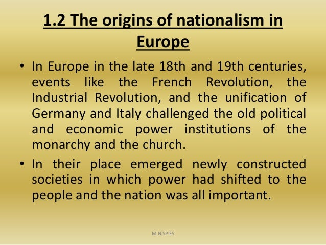 an introduction to the nationalism in the 19th century in europe Ethnicity, nationalism and conflict in the  the 18th &19th century  and economic forces drove the great powers of europe to pursue an aggressive.