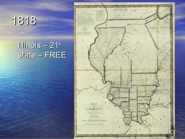 Nationalism - Us 1818 border map