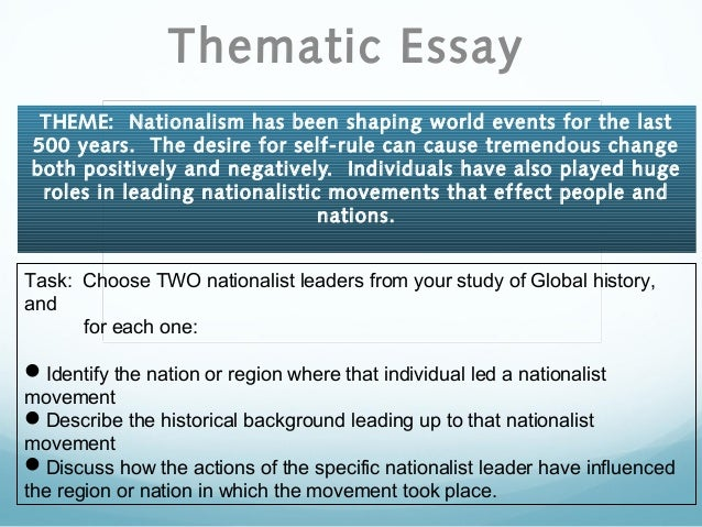 nationalism thematic essay example