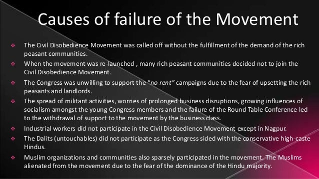 Civil Disobedience Movement Pdf