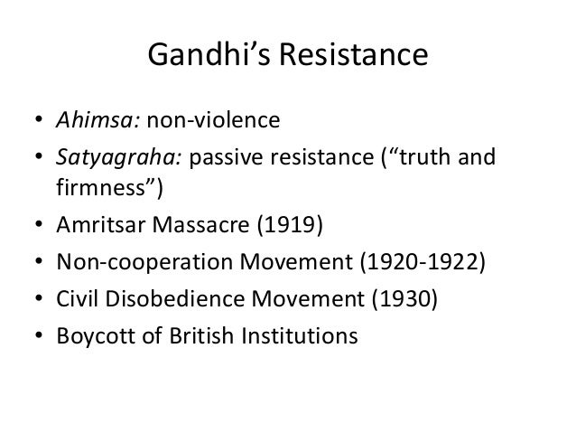 Nationalism in la, africa, asia and indiaNon Violent Resistance Satyagraha