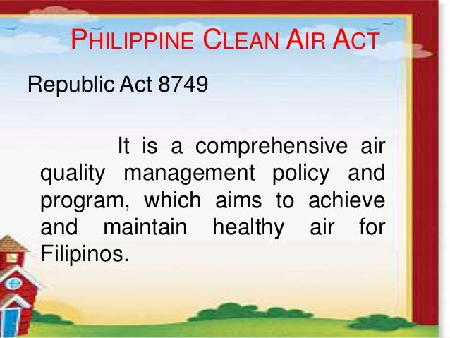 philippine clean air act 1999 pdf