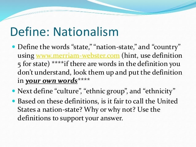 define nationalism and liberalism to what In conclusion, liberalism and nationalism was a significant factor in the unification of germany by giving the people a sense of national identity and pride cite this work to export a reference to this article please select a referencing stye below:.