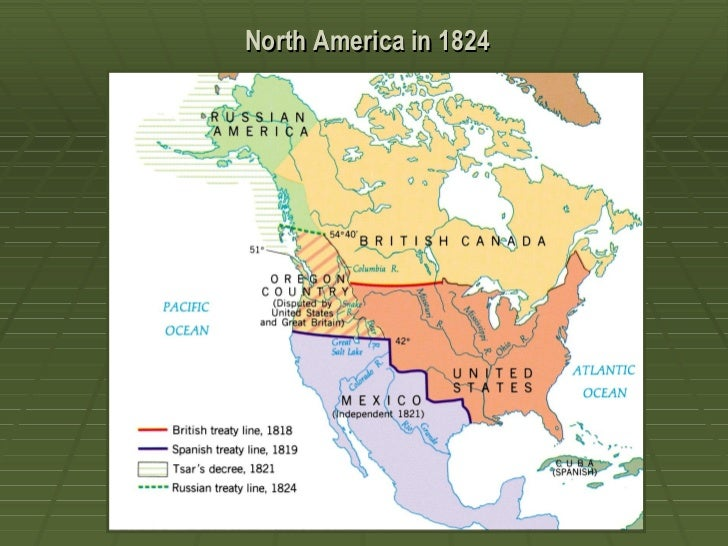 Nationalism Vs Sectionalism Ppt - Us map 1824