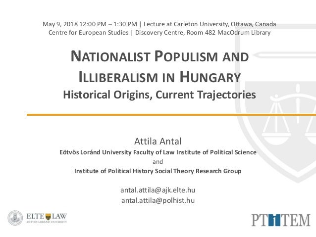 May 9, 2018 12:00 PM – 1:30 PM | Lecture at Carleton University, Ottawa, Canada Centre for European Studies | Discovery Ce...