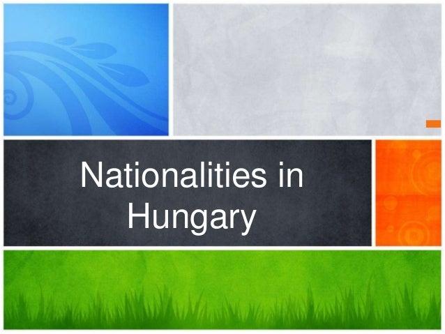 Nationalities in Hungary