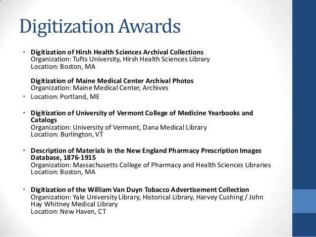 2013 National Network of Libraries of Medicine: New England