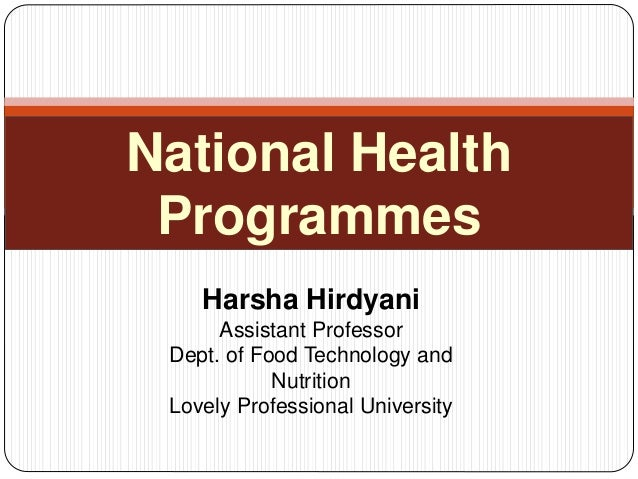 national health and nutrition programs in