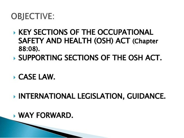 National occupational safety and health the prevention of