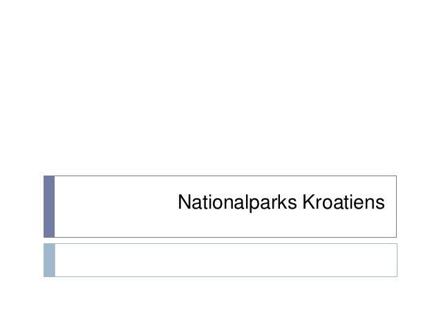 Nationalparks Kroatiens