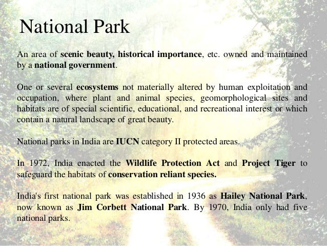 Important National Parks In India Pdf