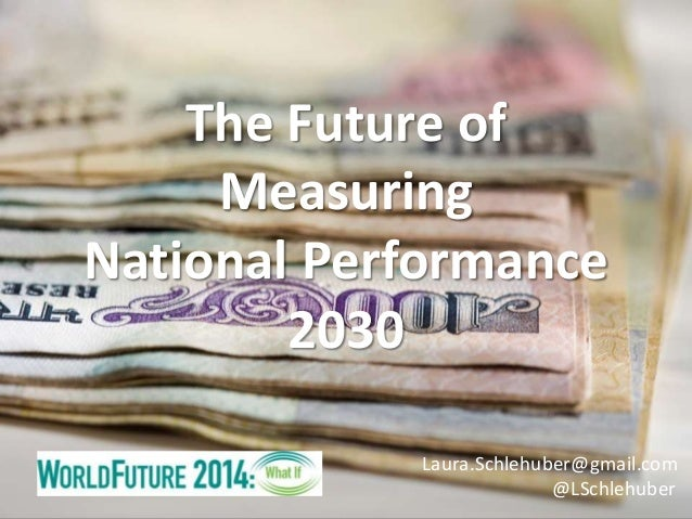 The Future of Measuring National Performance 2030 Laura.Schlehuber@gmail.com @LSchlehuber