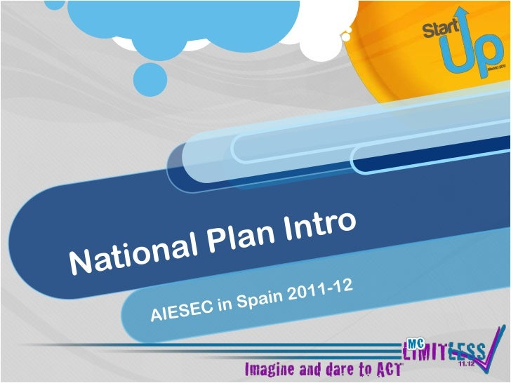 National Plan Intro<br />AIESEC in Spain 2011-12<br />