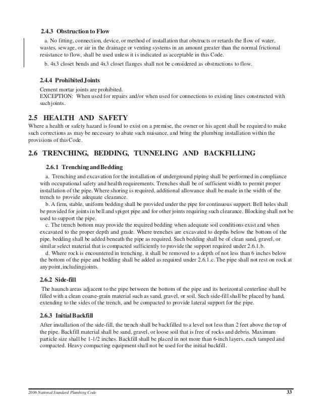 National standard plumbing code spiritdancerdesigns Choice Image