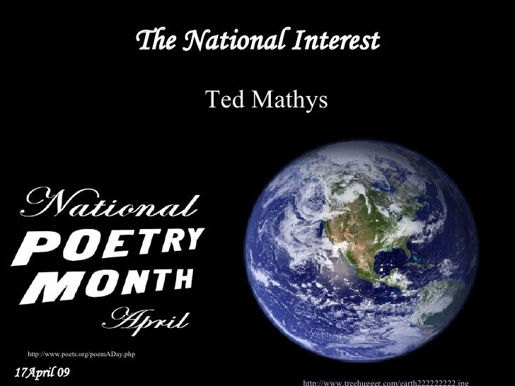 The National Interest                                         Ted Mathys                                              Fro...