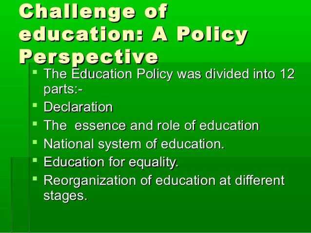 National education policy 1986 essay