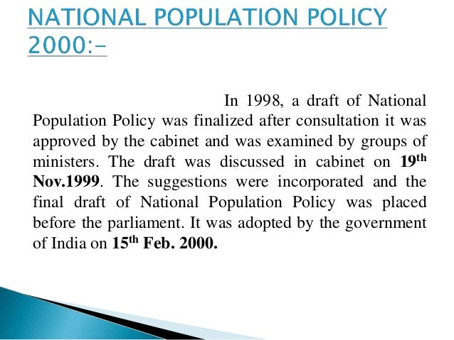 population policy 2000