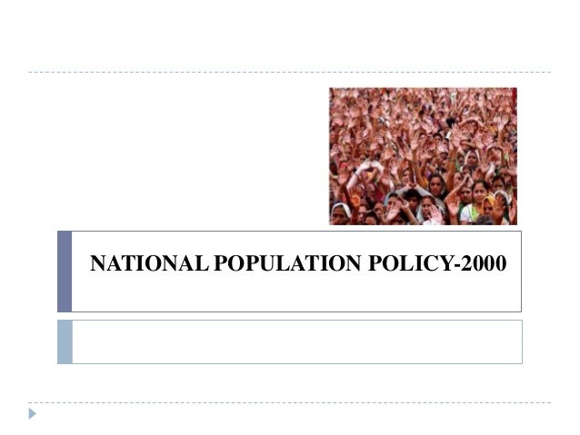 NATIONAL POPULATION POLICY-2000